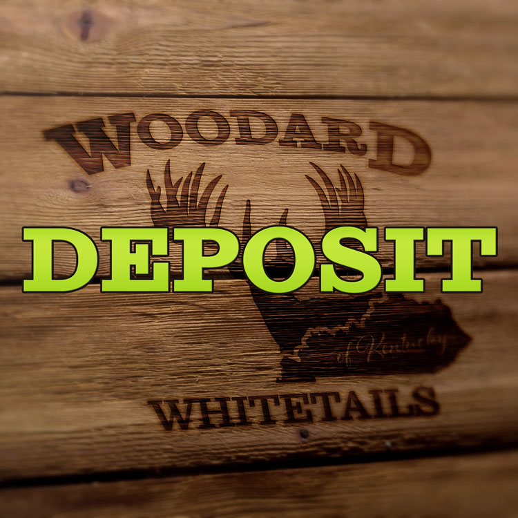 pay hunt deposit with Woodard Whitetails of Kentucky